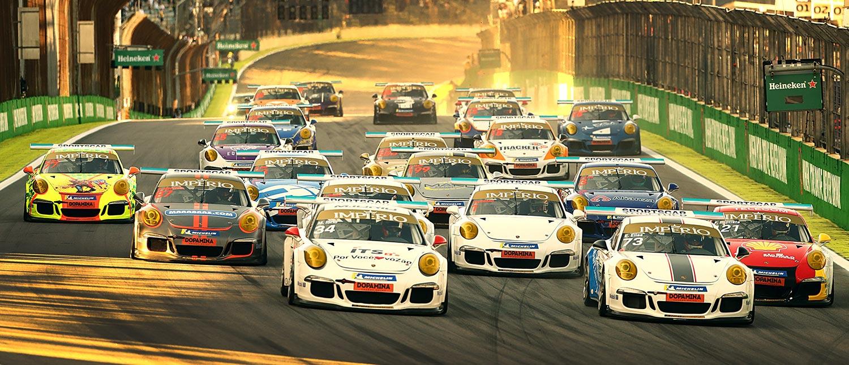 Felipe Baptista vence em Interlagos pela Porsche Império Carrera Cup 3.8 e corre pelo título contra Enzo Elias e Matheus Iorio