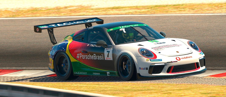 Jeff Giassi estreia no Mundial de Esports da Porsche em Zandvoort