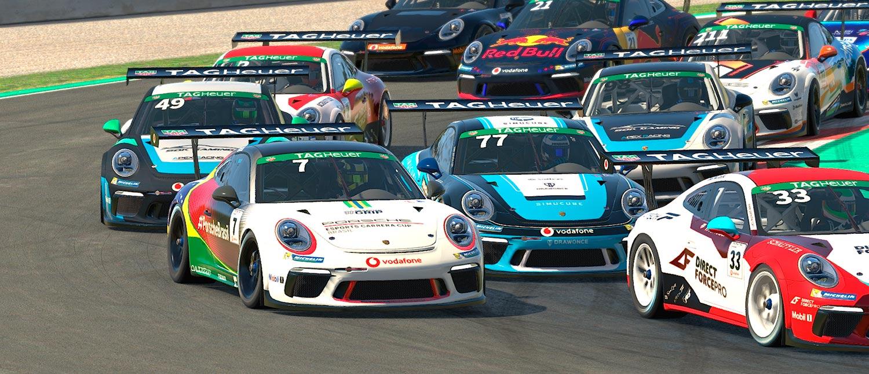 Jeff Giassi faz outro TOP 10 na Porsche TAG Heuer Esports Supercup em Barcelona e é 12º no campeonato