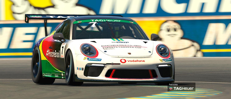 Jeff Giassi volta às pistas virtuais nesse sábado para a etapa de Le Mans do Porsche TAG Heuer Esports Supercup